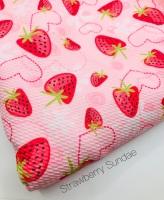 Strawberry Sundae Printed Bullet Fabric