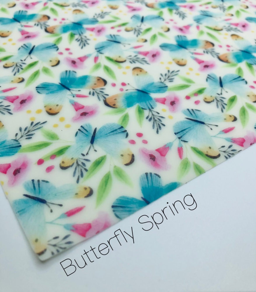 Butterfly Spring Transparent Jelly Fabric