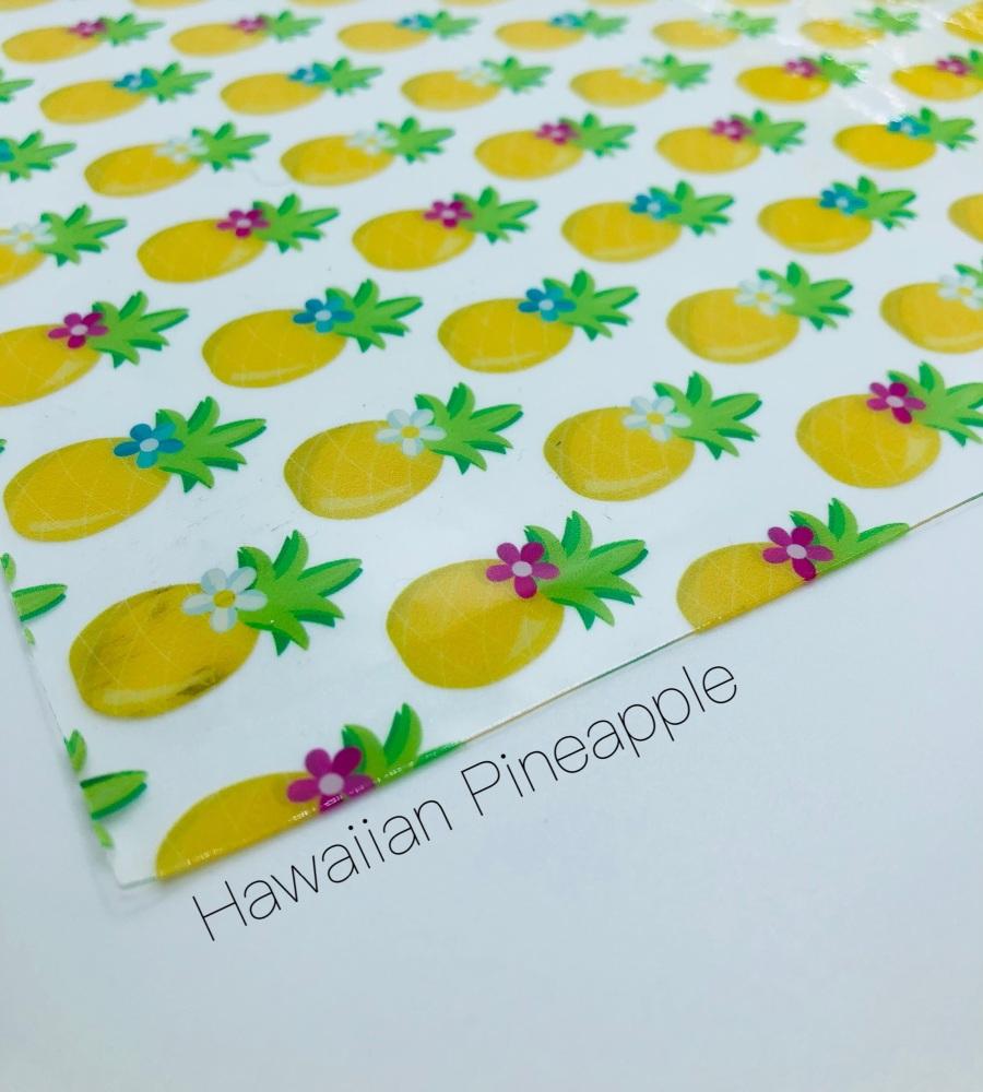 Hawaiian Pineapple Transparent Jelly Fabric