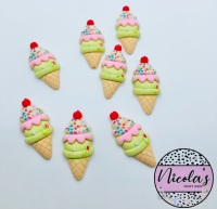 Ice Cream sprinkles cherry on top flatback embellishments