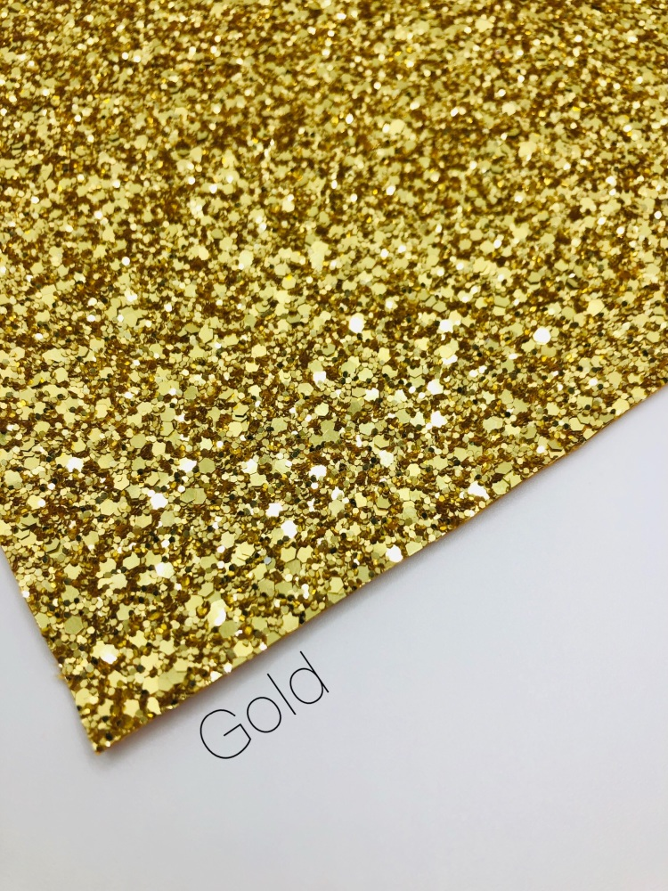 Luxury - Plain Gold Chunky Glitter