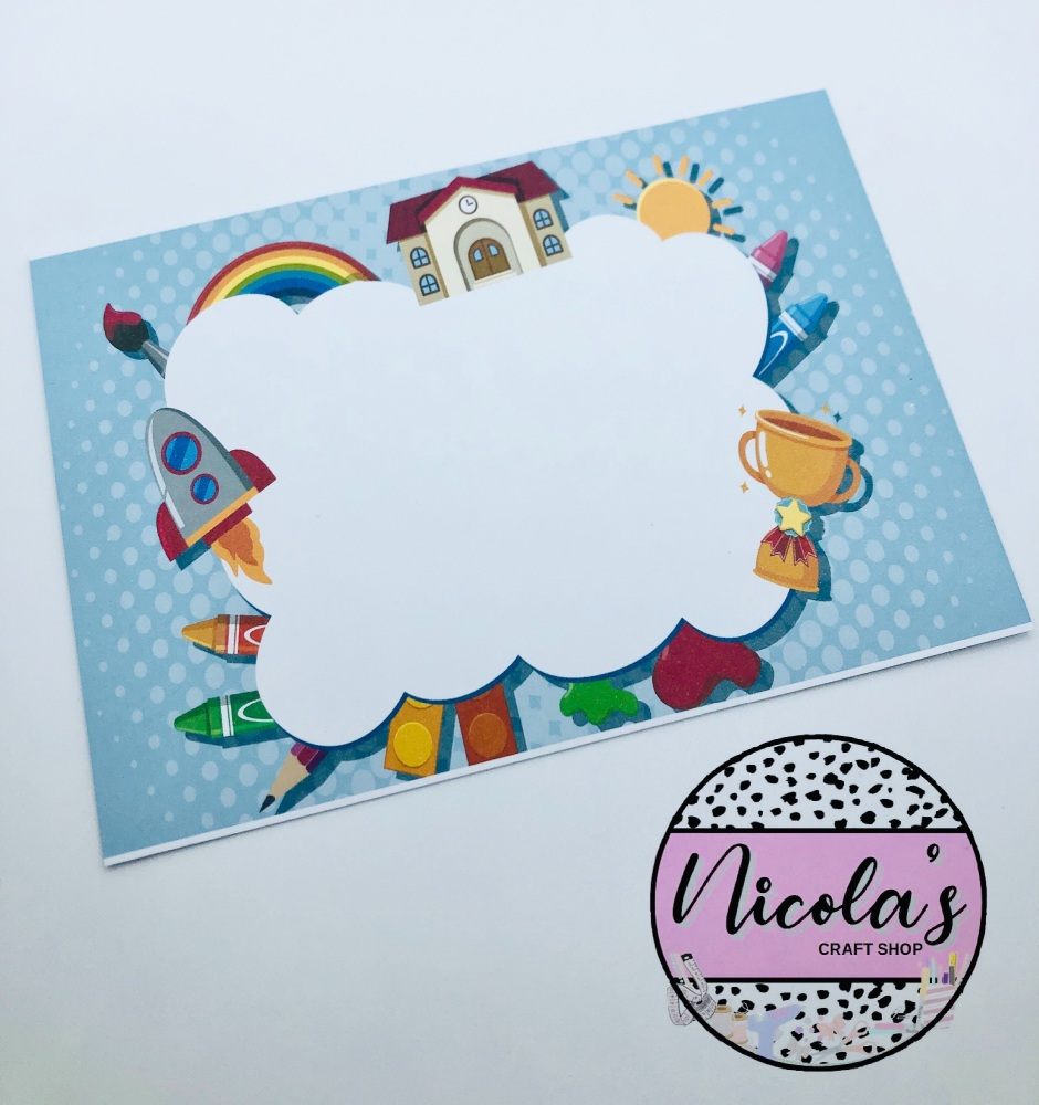 Back To School - School printed bow display cards