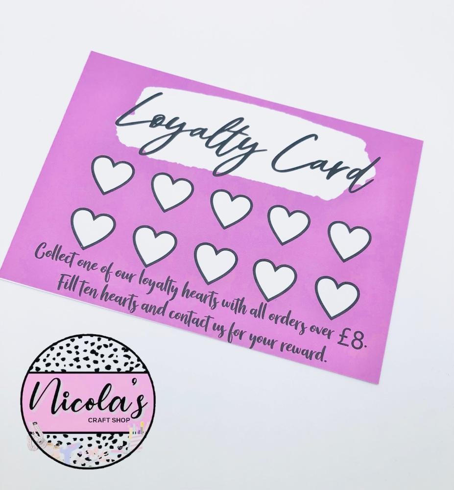 Pink Loyalty Cards (10 set)