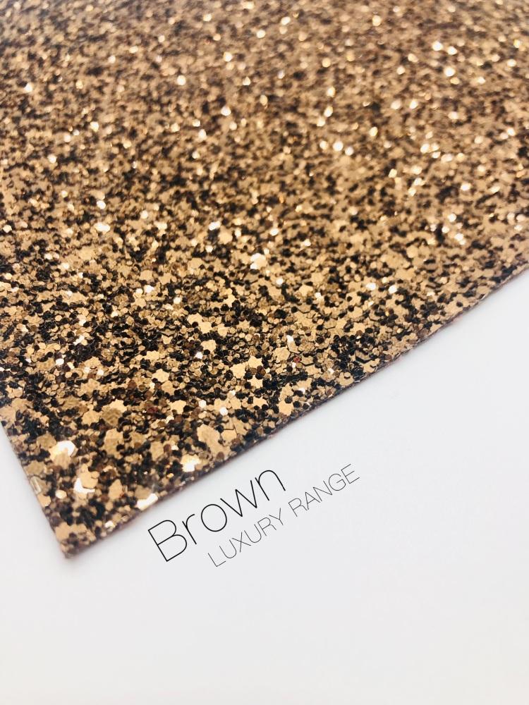 Luxury - Plain Brown Chunky Glitter