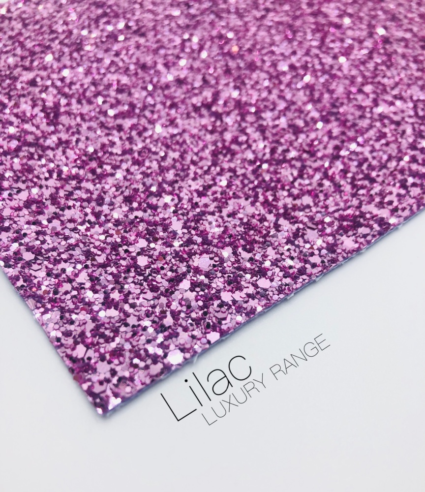 Luxury - Plain Lilac Chunky Glitter