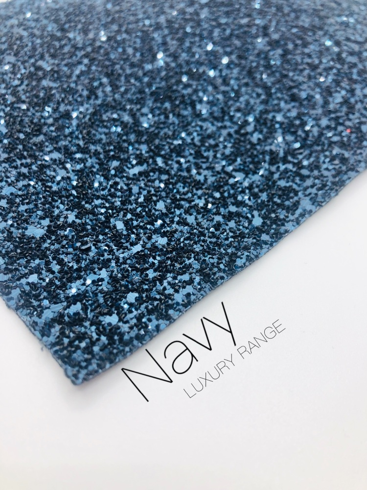 Luxury - Plain Navy Chunky Glitter