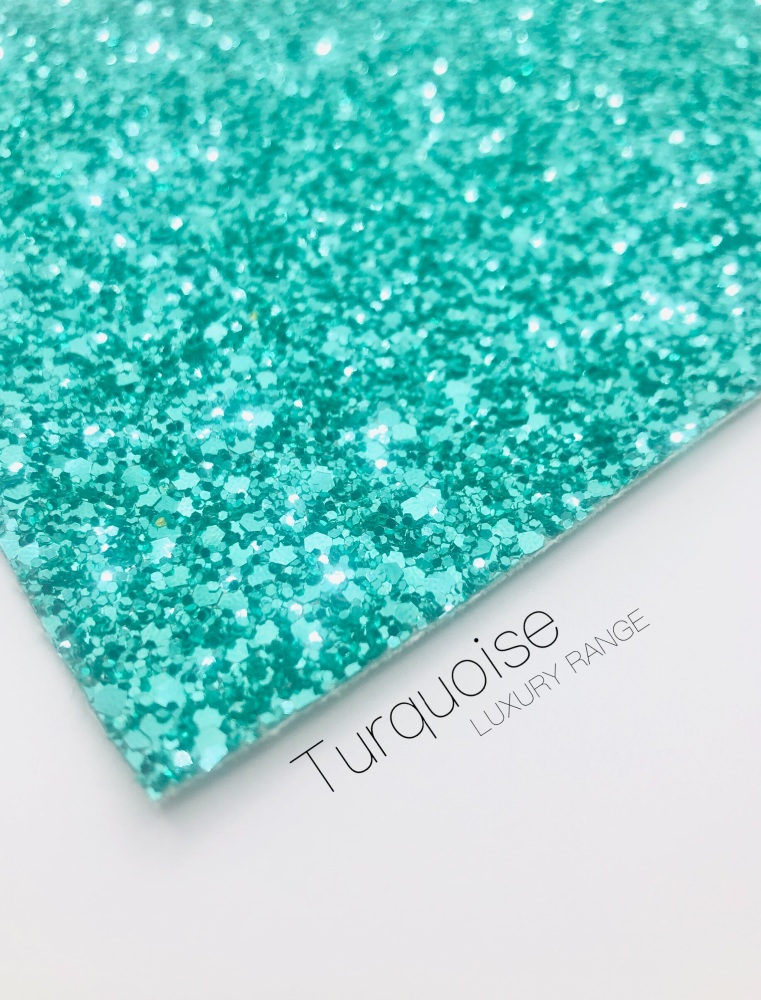 Luxury - Plain Turquoise jade green Chunky Glitter