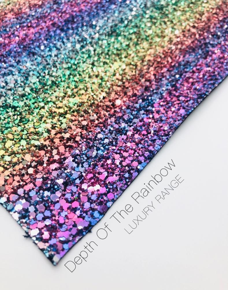 LUXURY -  Depth Of The Rainbow chunky glitter fabric