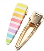 Rainbow Stripe - Ready Made Gold Clips