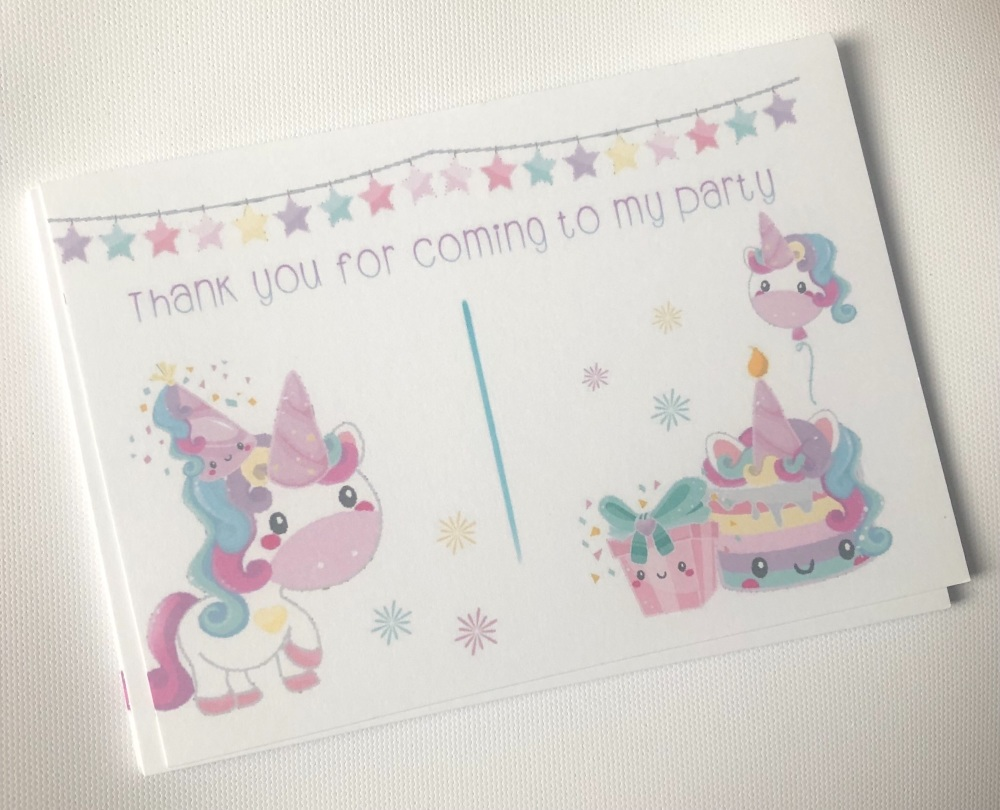 CUTE UNICORN STAR BUNTING Thank you for coming to my party