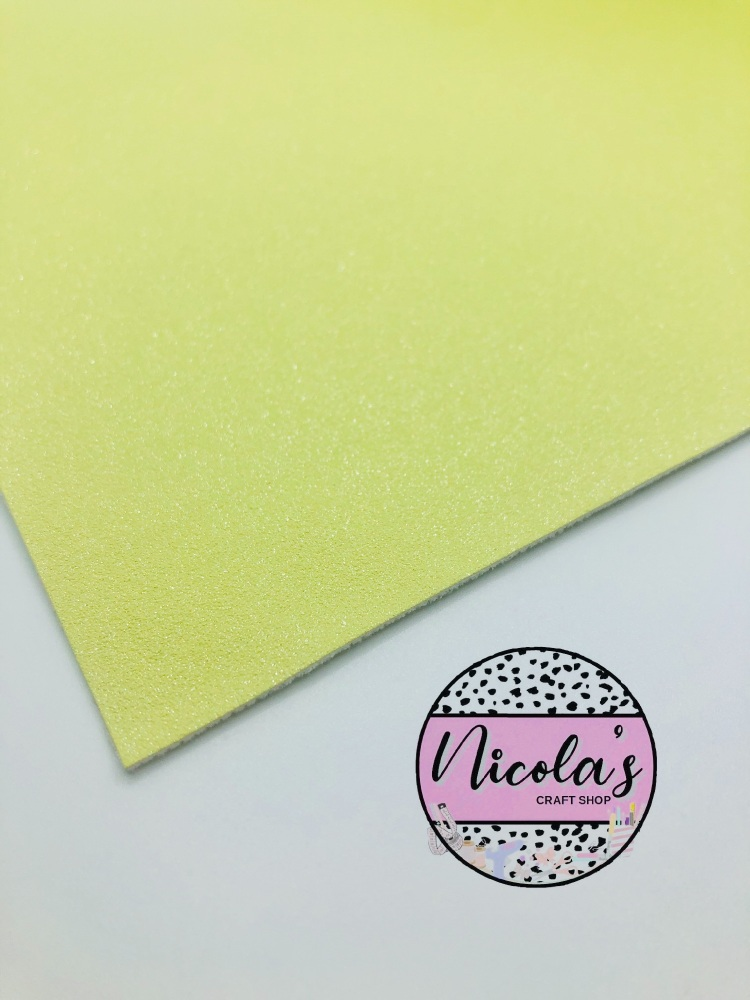 GLITTER SHIMMER VELVET - Pastel Yellow fabric