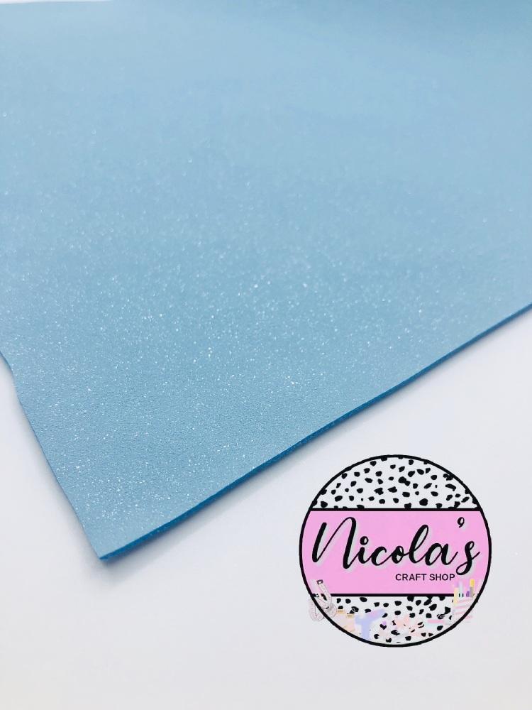 GLITTER SHIMMER VELVET - Baby Blue fabric
