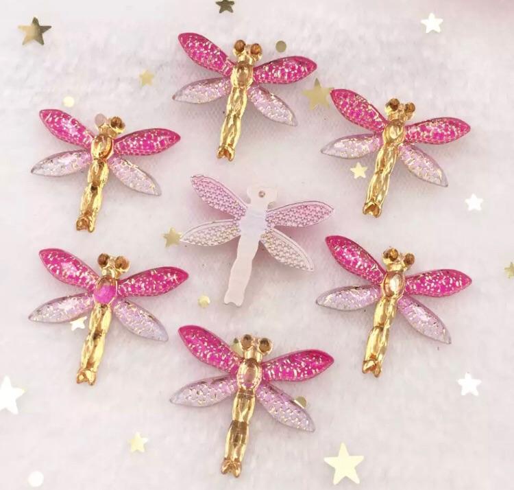 Pink Dragonfly Bling 3d flatback embellishment