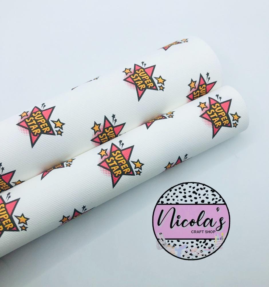 1550 - Super Star printed canvas fabric sheet