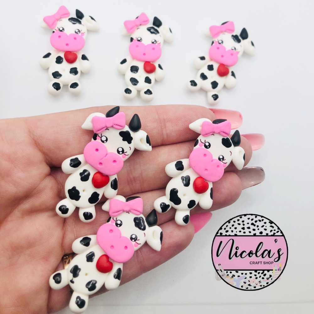 Mrs Cow polymer clay