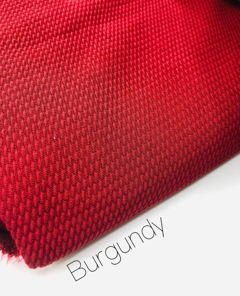 #13 Wine Burgundy Red Plain Bullet Fabric