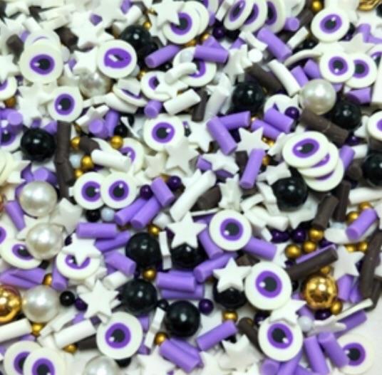 Purple Halloween Eyeball Sprinkles
