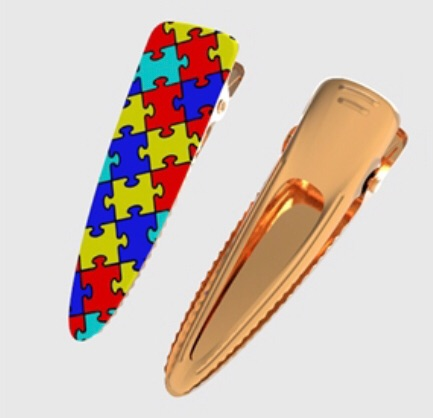 Autism Jigsaw - Ready Made Gold Clips