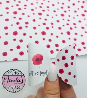 Lest we forget poppy collage pre cut bow loop