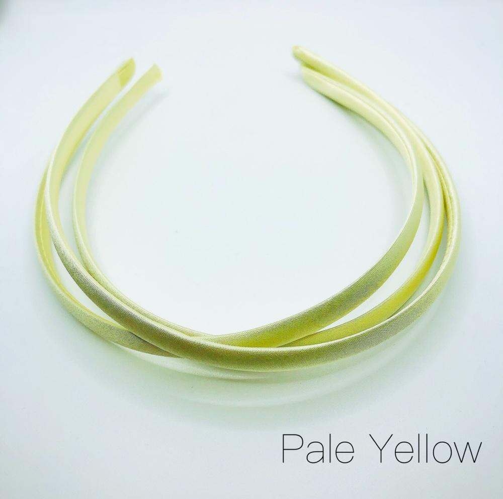 Pale Yellow Satin Headband