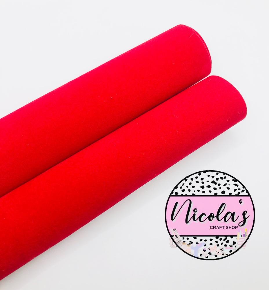 VELVET - Double Sided Bright Red