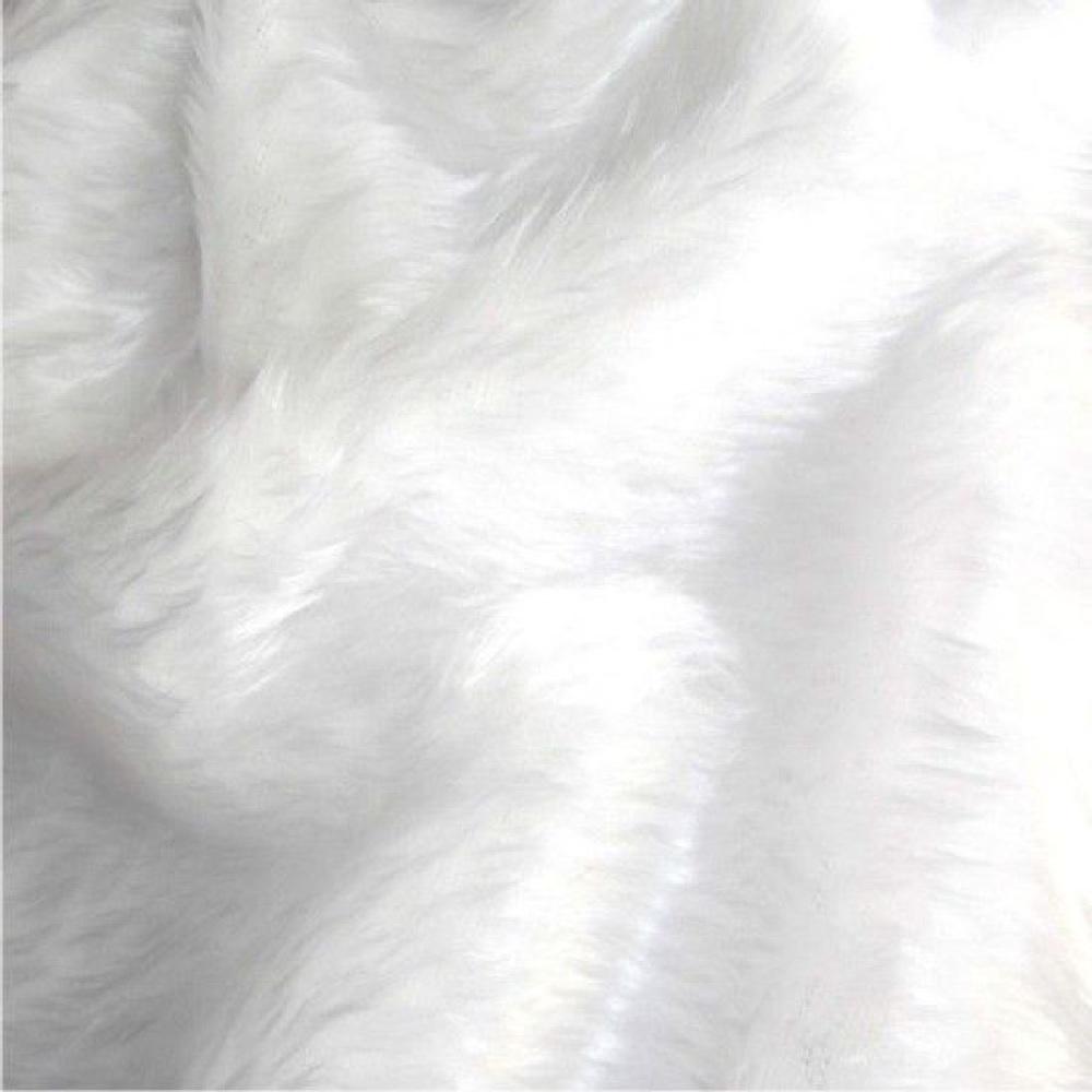 White short pile fur fabric