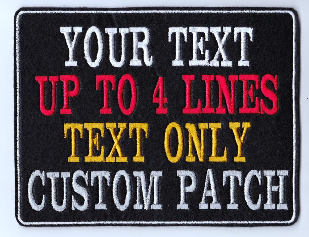 Large Custom Text Personalised Felt Patch - 6.5