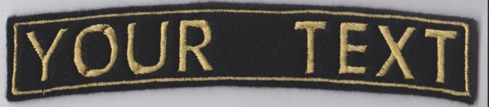 Large 1 Line Rocker Custom Personalised Felt Patch - 17.5cm x 3cm - Standar