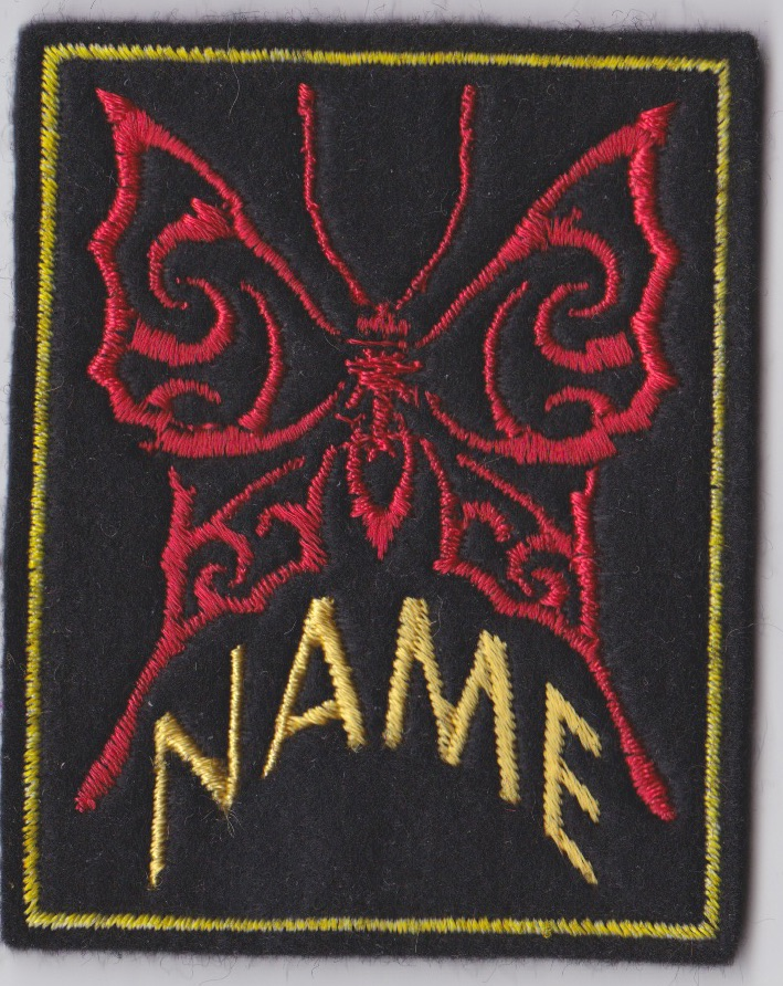 Butterfly Image Custom Personalised Felt Patch