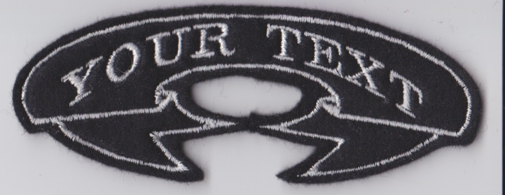 Small 1 Line Arched Ribbon Custom Personalised Felt Patch