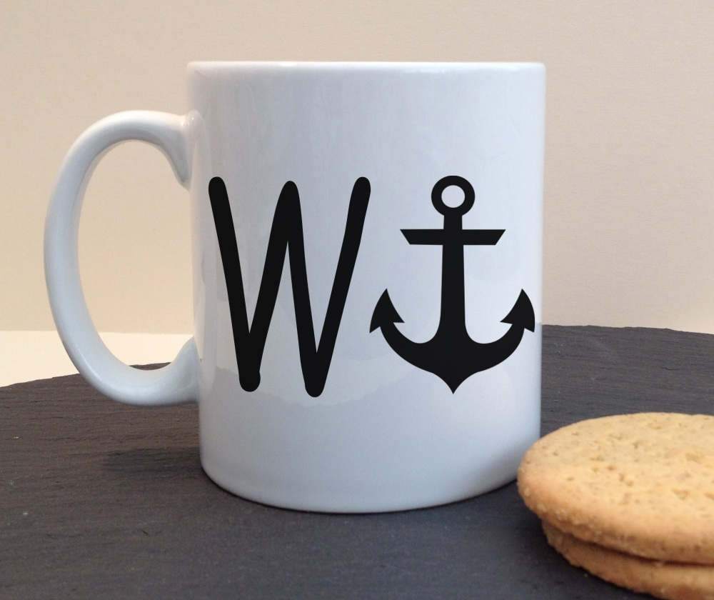 W Anchor (WANKER) Personalised Mug