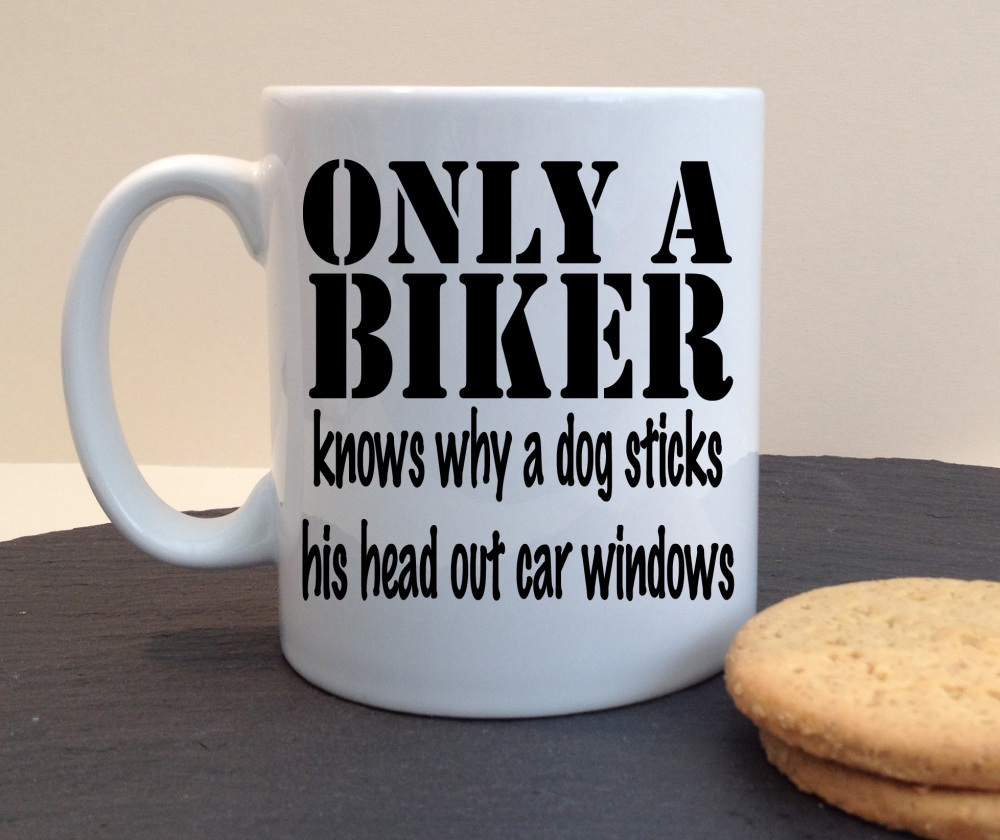 Only a Biker Knows Why Personalised Mug