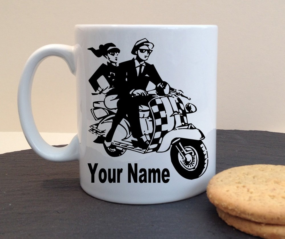 Scooter Ska Mod Personalised Mug