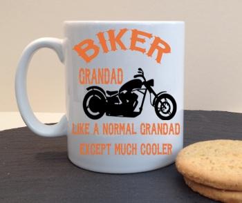 Biker Grandad Personalised Mug