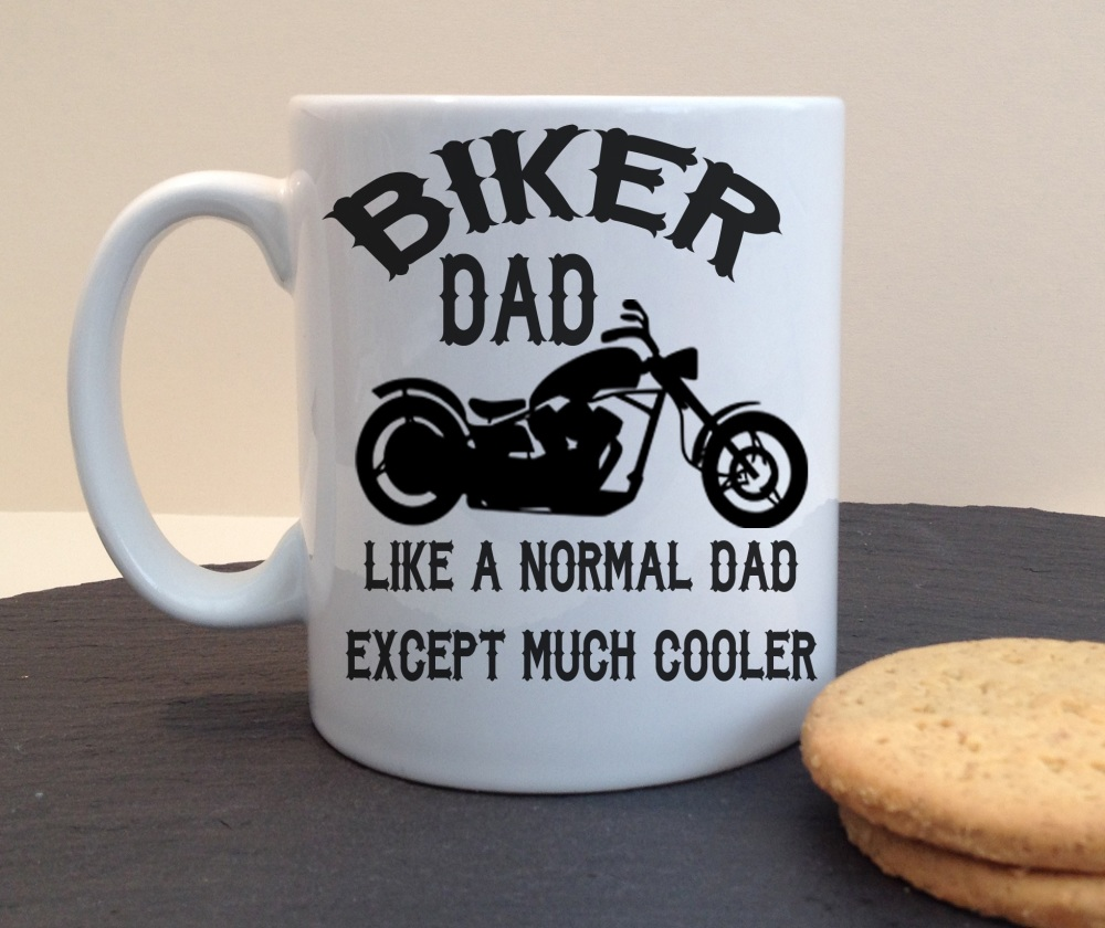Biker Dad Personalised Mug