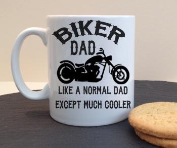 Biker Dad Personalised Mug