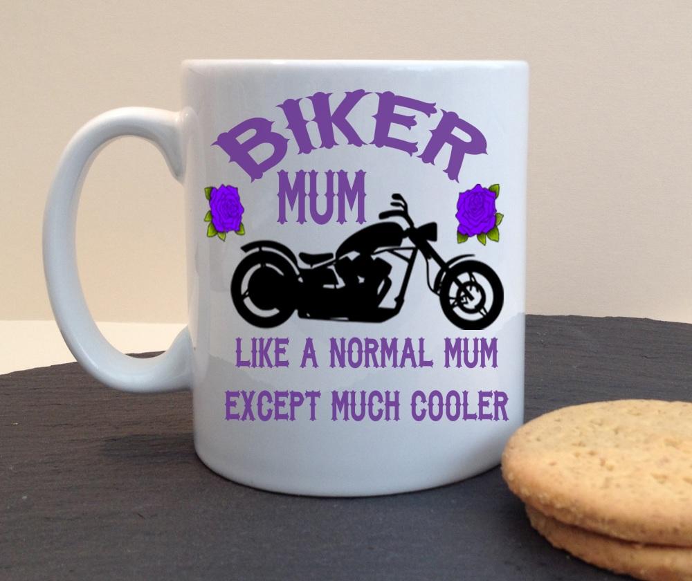 Biker Mum Personalised Mug