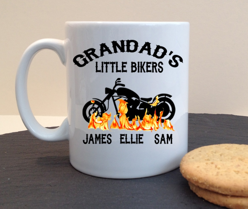 Grandad's Little Bikers Personalised Mug