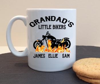 Grandad's Little Bikers Personalised Mug