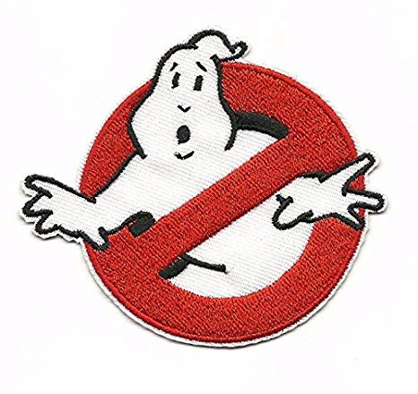 Ghostbusters Ghost Image Fabric Patch Fancy Dress Costume
