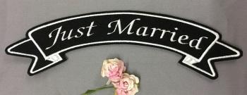 Large Back Top Ribbon Wedding Party Bride Bridesmaid Custom Personalised Felt Patch