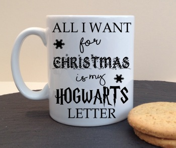 All I Want For Christmas Is My Hogwarts Letter Personalised Mug
