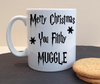 Merry Christmas You Filthy Muggle Personalised Mug