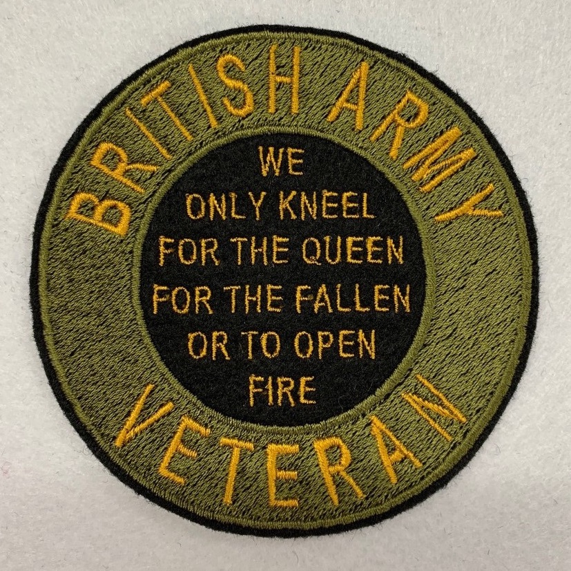 British Army Veteran Embroidered Patch