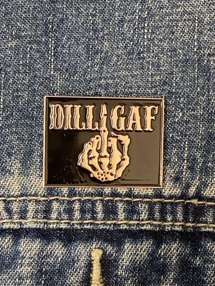 Dilligaf Skeleton Finger Enamel Pin Badge #0009