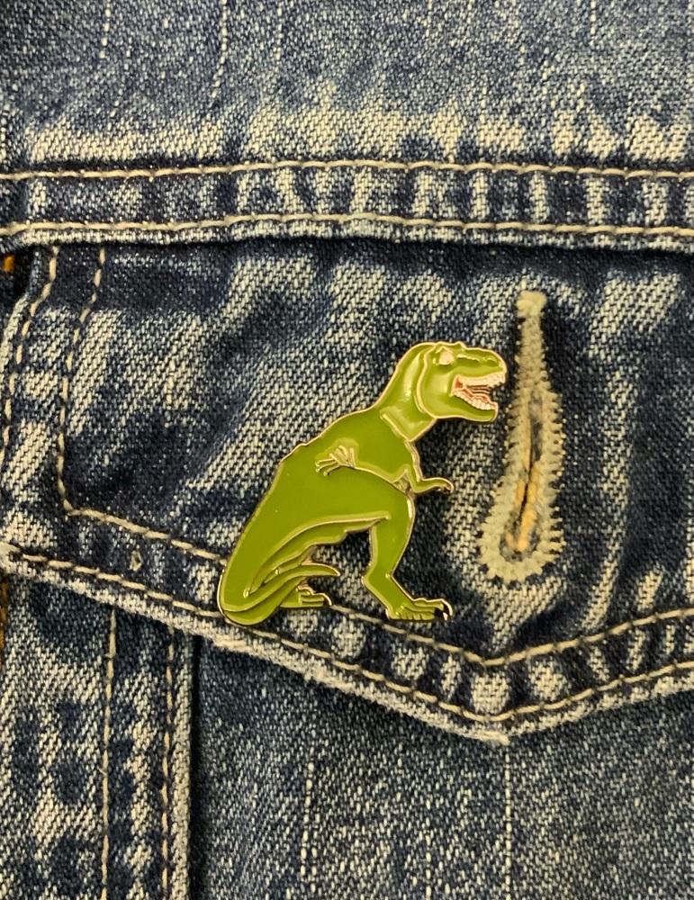 T-Rex Dinosaur Enamel Metal Pin Badge #0068