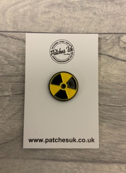 Radioactive Toxic Warning Enamel Metal Pin Badge #0118