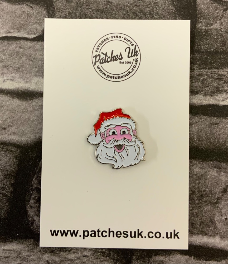Father Christmas / Santa Head Enamel Pin Badge
