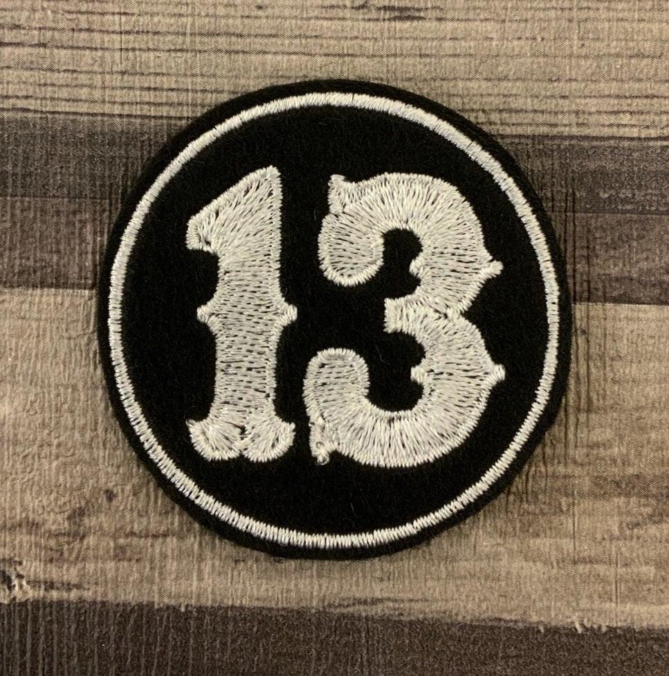 Lucky No. 13 - Circle Felt Embroidered Biker Patch