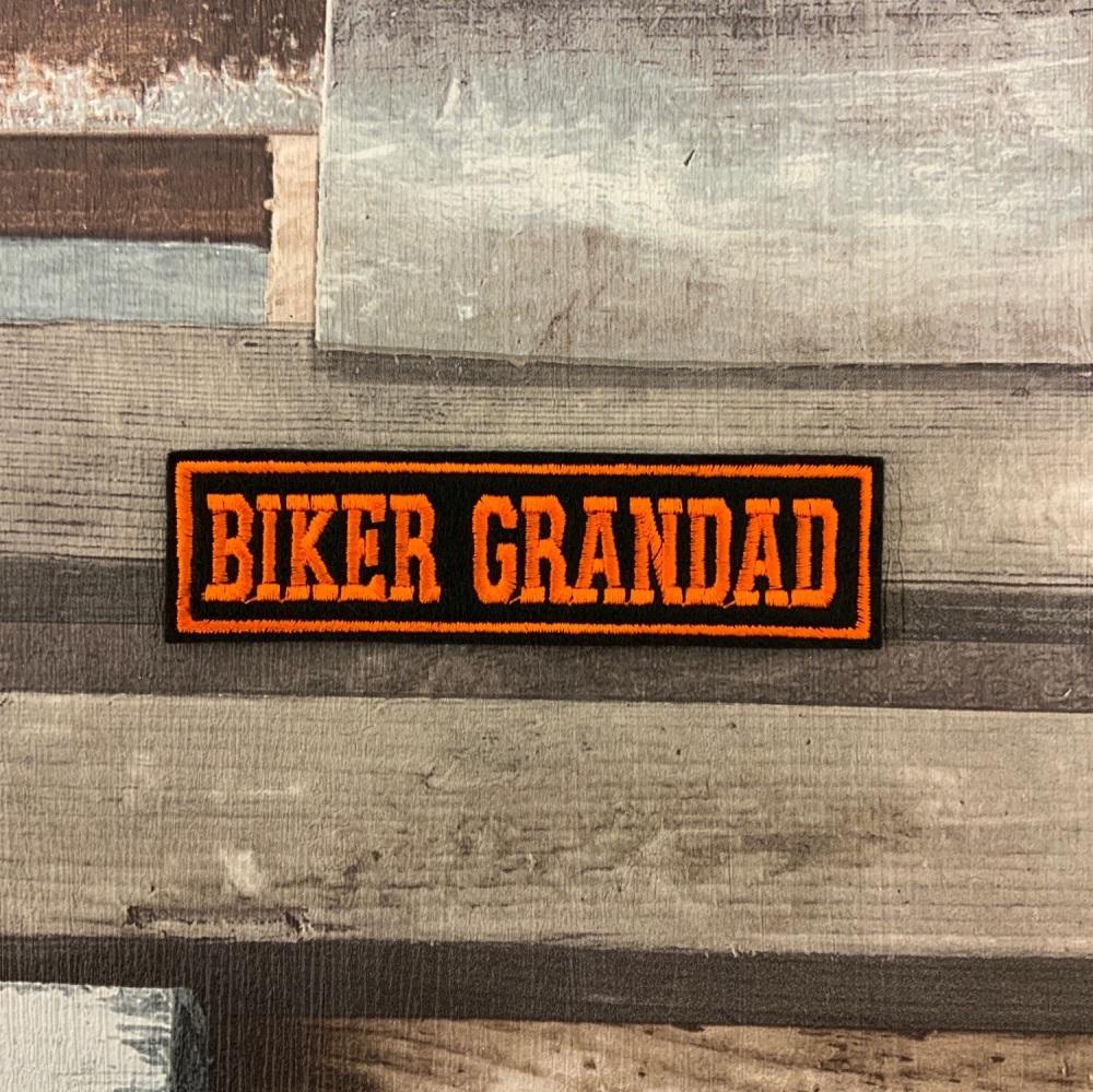 Biker Grandad - 1 line felt patch